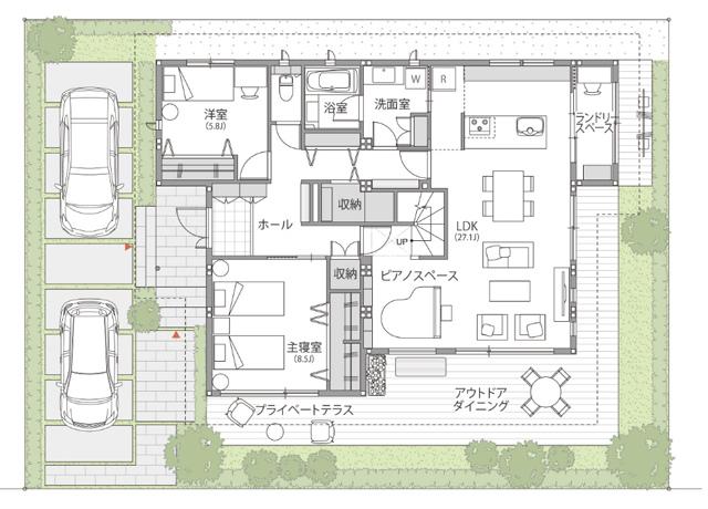 平屋で廊下のある家はどうなのか?「トヨタホームの間取りプラン」に見る効果的に廊下を活用するプラン