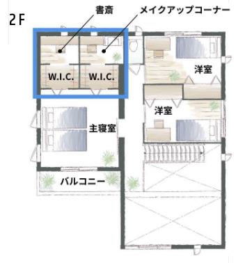 廊下のある家の間取り事例。セキスイハイムの木造系プランを参考に。