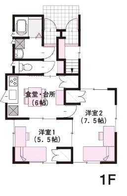 30坪の二世帯住宅間取り④変形した敷地を使った完全分離型の3階建て【ミサワホーム】