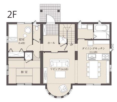 40坪の二世帯住宅間取り③LDKでの団らんを楽しむシンプルな全施設共有型【セキスイハイム】