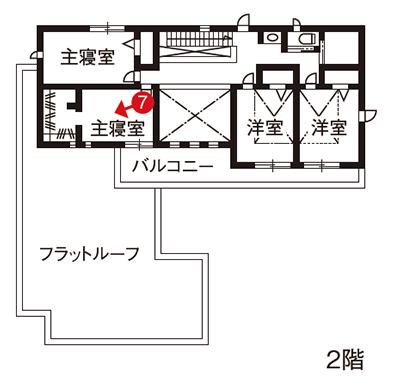 二世帯住宅完全分離型の間取り②72坪の面積を活かした広々7LDKで5人暮らし【大和ハウス】