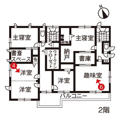 二世帯住宅完全分離型の間取り③2階建て2棟を合体したお隣さま住宅【大和ハウス】