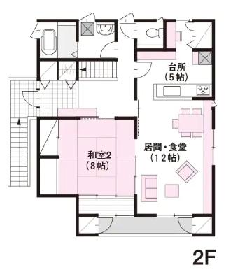 60坪の二世帯住宅間取り④居住性を重視した建物内完全分離型の3階建て【ミサワホーム】