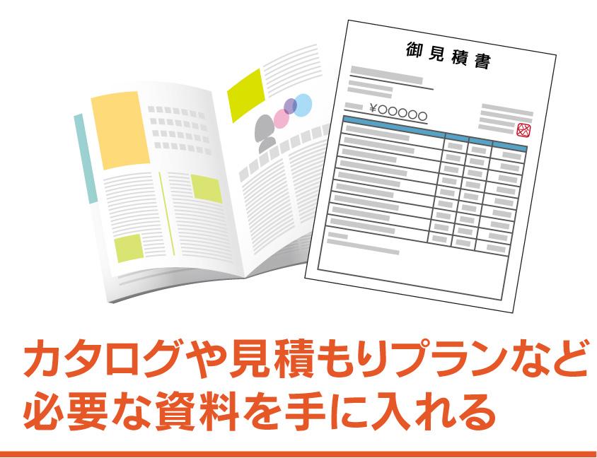 ③カタログや仮見積もりなど、ハウスメーカーを直接訪問するための資料を手に入れる