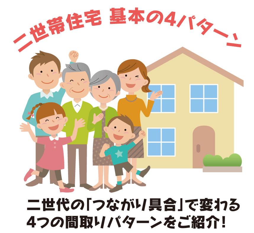 二世帯住宅の間取り【基本の4パターン】家族のつながり具合で変わります。