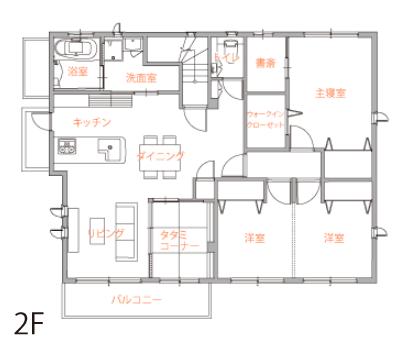 60坪の二世帯住宅間取り②それぞれの世帯でこだわりのキッチンを取り入れた三世代住宅【トヨタホーム】