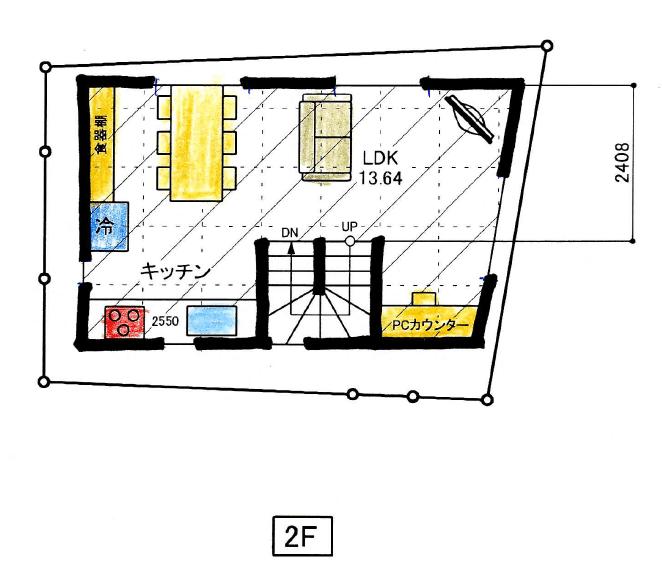 狭小住宅の間取り10坪のスモールハウス②11坪で3階建てルーフバルコニー付き【桧山建工】
