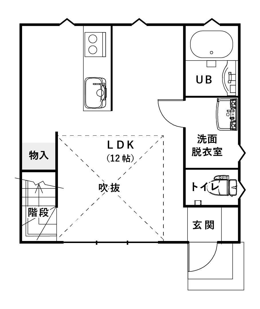 住宅の間取り10坪のスモールハウス④独身のおひとり様におすすめしたい「俺の城」【FIT BOND】