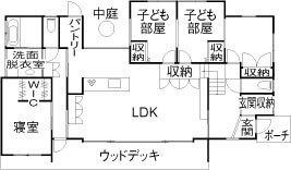 【3000万円の家】平屋/スキップフロアを活用した広々4LDK【夫婦+子ども2人】