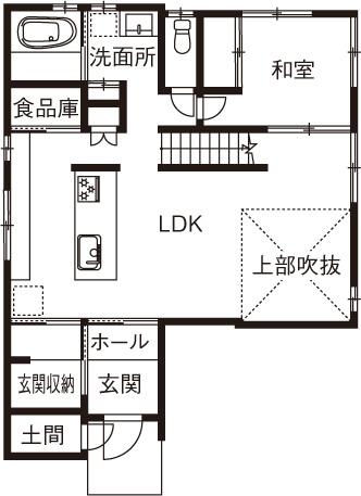 【3000万円の家】夫婦ふたり暮らし/吹き抜けが開放的な北欧モダンの2階建て