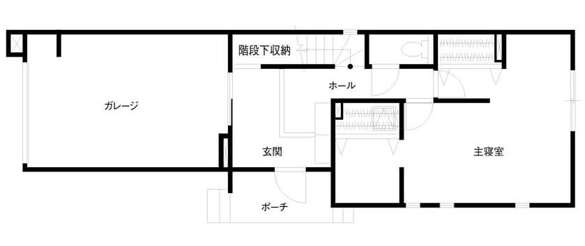 30坪のビルトインガレージ間取り①好きなものに囲まれて暮らす2階建て