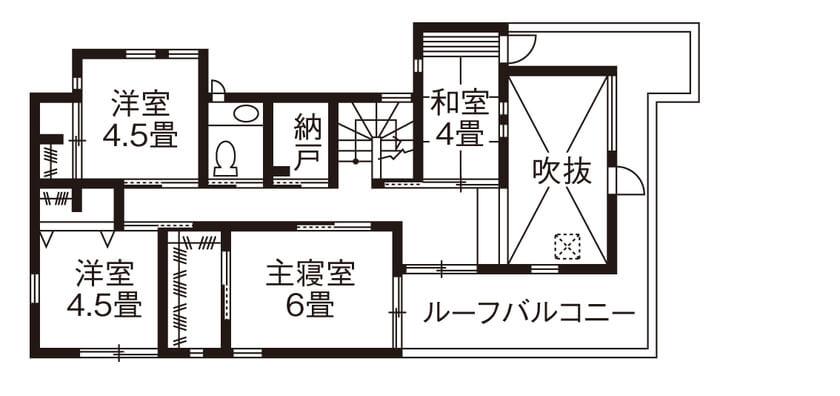 30坪のビルトインガレージ間取り③バイク用ガレージのある家事動線とアウトドアにこだわった2階建て