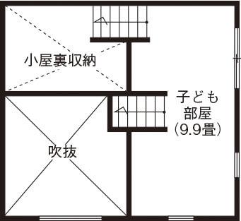 広いリビングのある間取り①平屋/半地下を活用した広々リビング