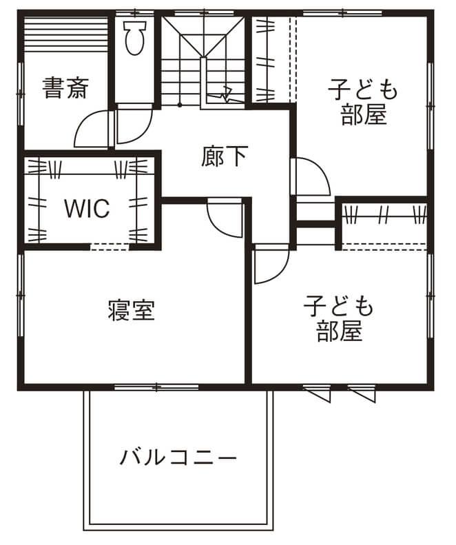 家事動線を考えた間取り【40坪】②回遊性の高いキッチン周りが特徴的な2階建て
