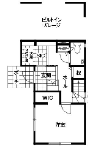 家事動線を考えた間取り【40坪】④都心ならではのビルドインガレージ付き3階建て