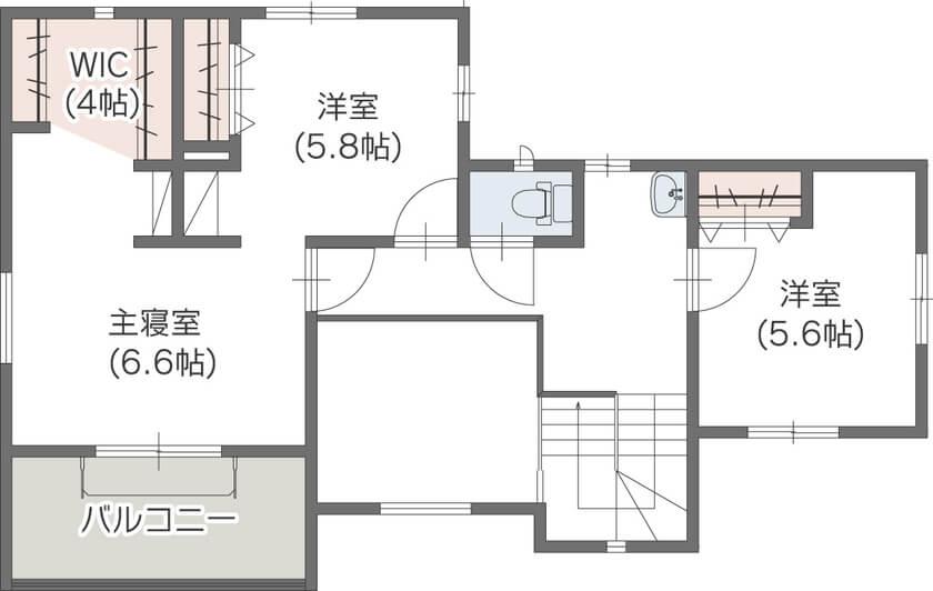 広いリビングのある間取り⑤2階建て/ドアのないワンフロアで実現したリビング空間
