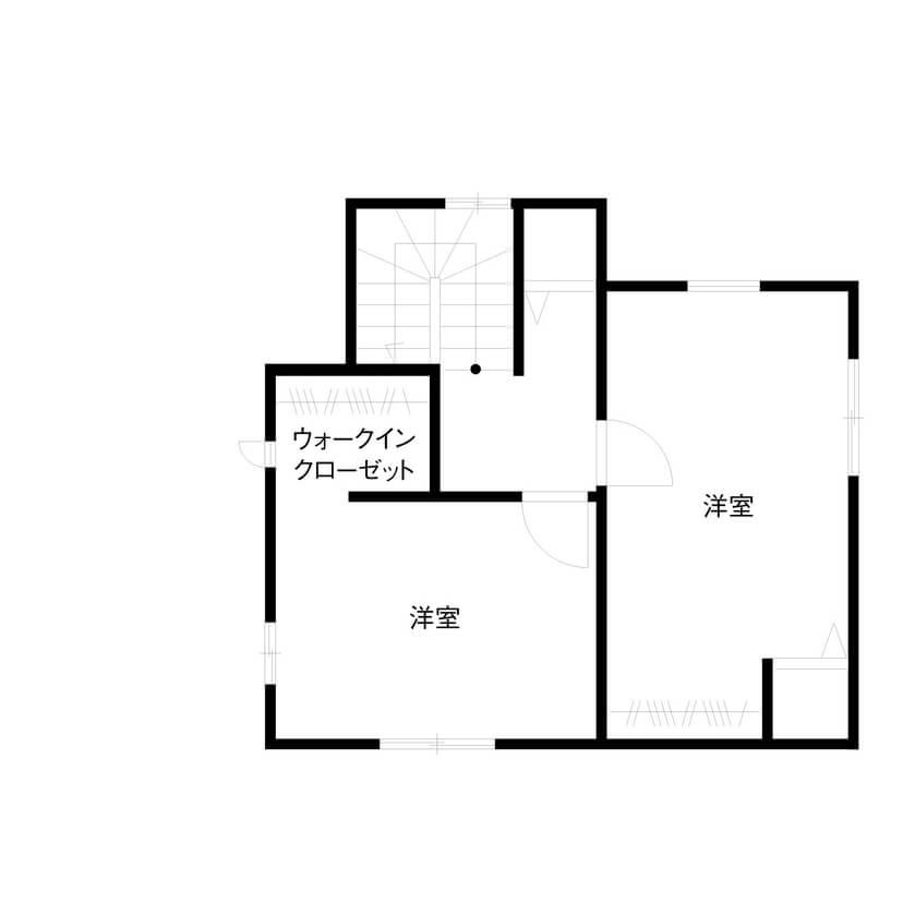 キッチンとダイニングが横並びの間取り③3階建て/主寝室にミニリビングのある2階バスルームの家