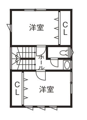 平屋に見える2階建て間取り①大きな平屋に2階建てをくっつけたハイブリッドな家