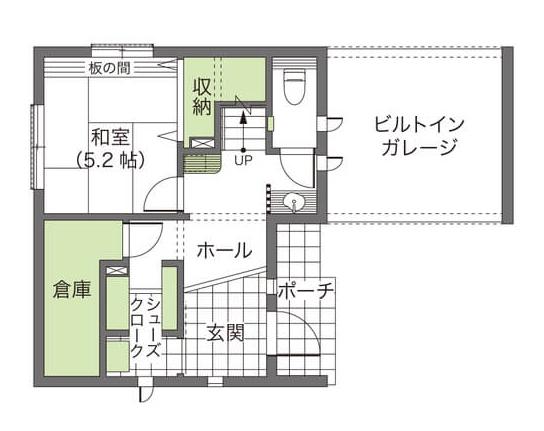 屋上のある3階建ての間取り/24坪の土地でも庭付き一戸建てを実現