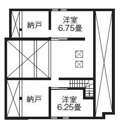トイレが2つある平屋の間取り③/古民家風和モダンのコンパクトな二世帯住宅