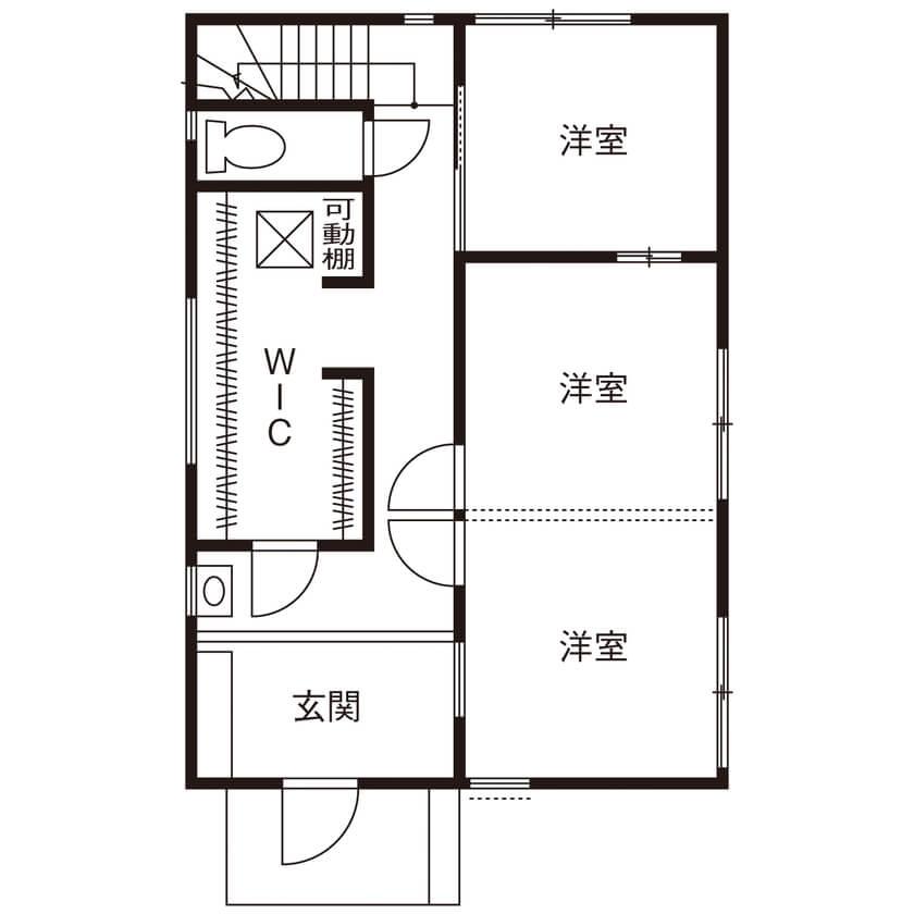 ①都会の狭小地におすすめの2階LDK直結のランドリールームで家事動線短縮