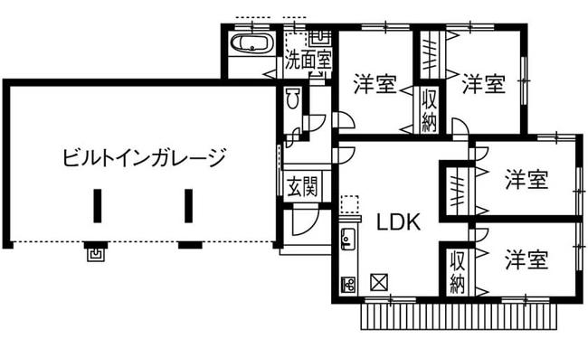 【間取り解説】ガレージ付きの平屋②車3台分の豪華ガレージ/整備・リストアも可能な趣味の家