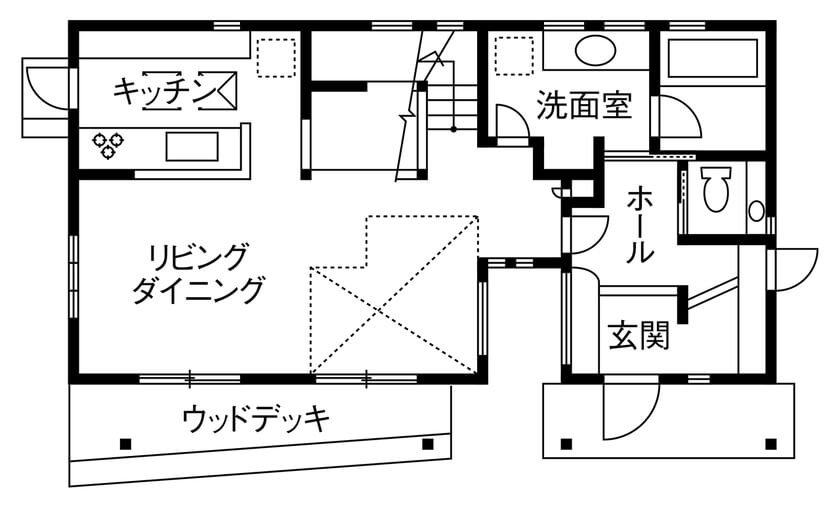 4人家族の間取り①【32坪の2階建て】ウォークスルークローゼットを使って動線をスムーズに