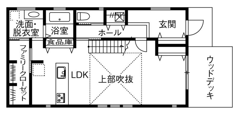 人気の30坪・2階建ての間取り①/将来を見据えた自由度と収納が充実した5人家族の家