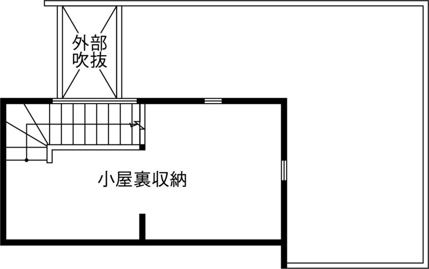 子ども一人・3人暮らしの間取り【2階建て】/LDK中心のシンプルな1階と小屋根裏で2階のプライベート空間を挟んだ間取り