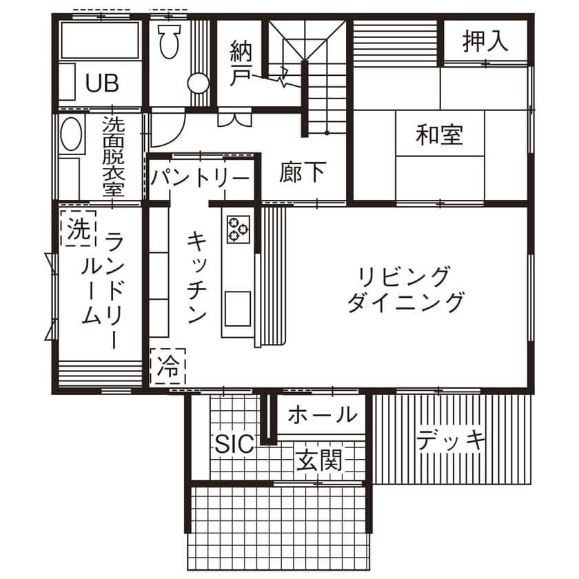 4人家族の間取り①【41坪の2階建て】リビング外階段+スムーズ動線の家事ラク間取り