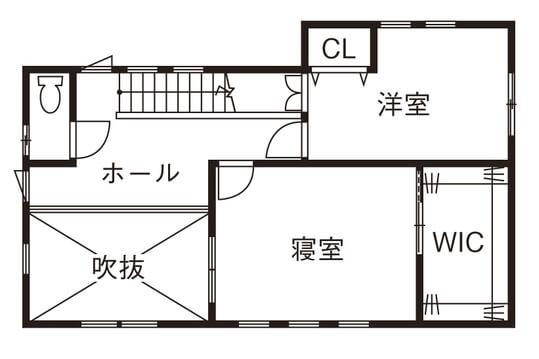 人気の30坪・2階建ての間取り③/生活の中心であるLDKにこだわり。ファミリークロークが収納の要