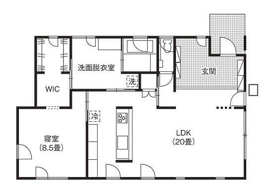 一人暮らしに最適な小さい平屋③断熱性・気密性抜群で開放的な指揮を通じて暮らしやすい家